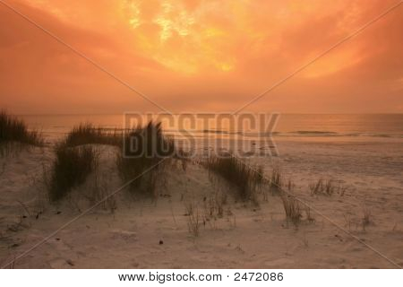 Sunset On A Beach In Florida