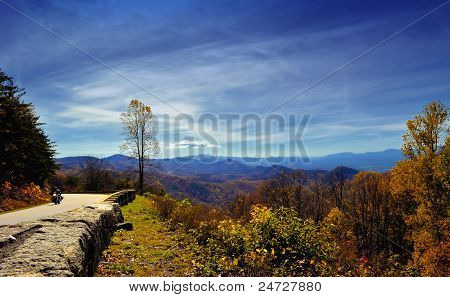 Chimney Rock Mountain Fall Foliage