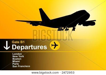 Departing Aeroplane
