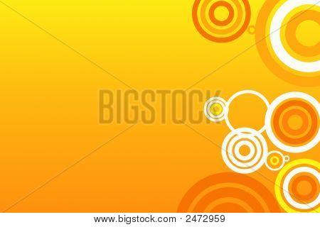 Abstract Orange Circles