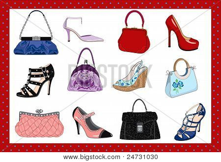 Women's handbags and shoes