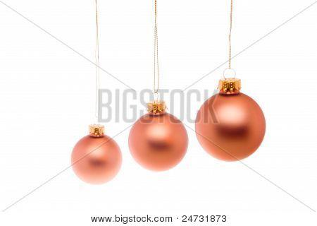 Pastel Christmas Ball Pink Salmon Hanging