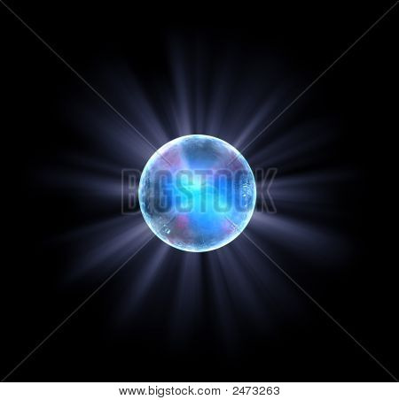 Shiny Blue Ball