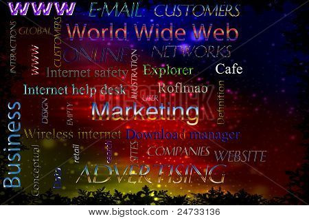 illustration of online marketing