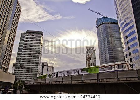 Cityscapes scenes of Sathorn Bangkok