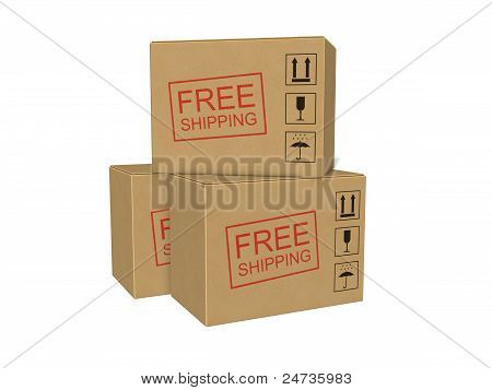 Free Shipping Cardboard Boxes