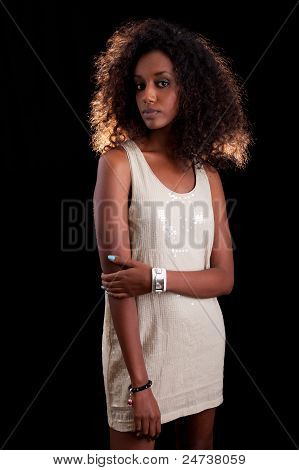 Young Beautiful African Woman