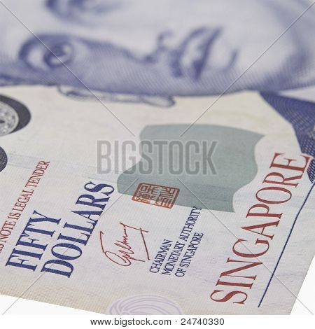Singapore fifty dollar note