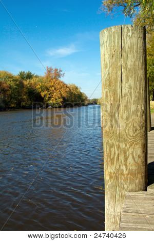 Dock on a River