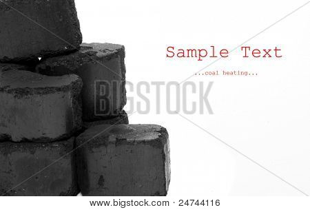 Brown coal isolated on a white background.