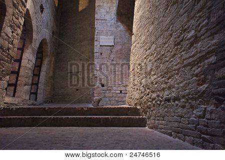 Underground Etruscan City in Perugia, Italy