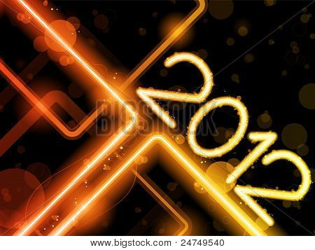 2012 Yellow  Lines Background Neon Laser