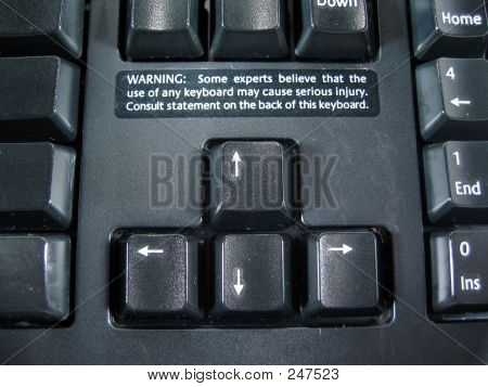 Keyboard Warning