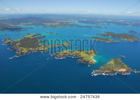 Aerial, Bay of Islands, New Zealand