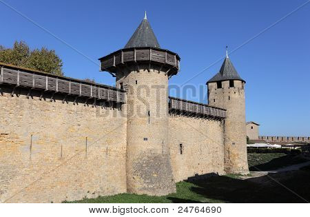 Fortified Wall Of Carcassonne, France