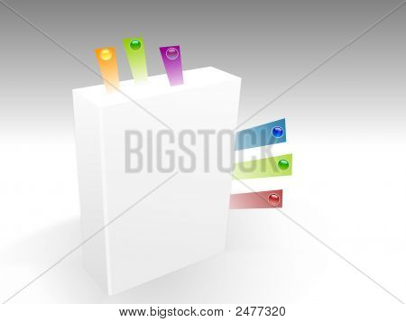 3D Book With Color Paper