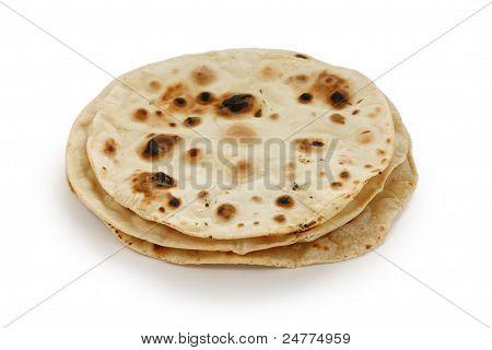 chapati , indian unleavened flatbread