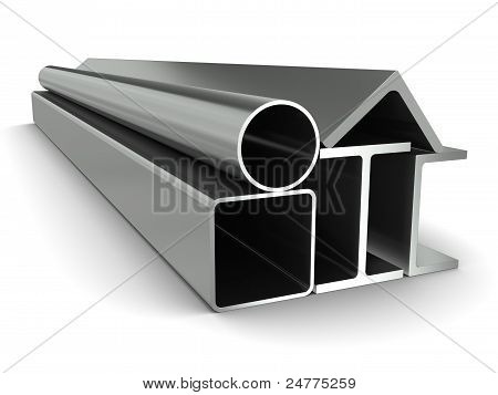 Metal pipe girders angles channels and square tube