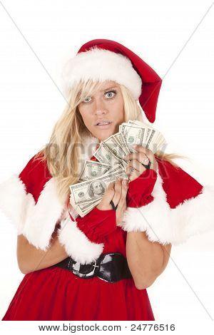 Mrs Santa Money Startled