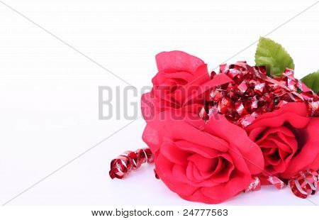 Red Rose With Red Ribbon