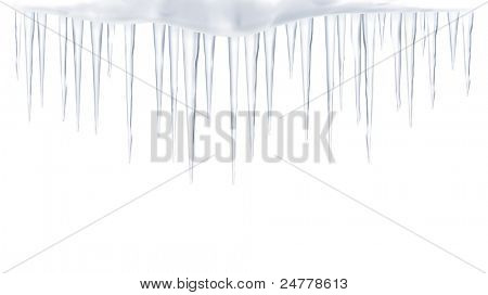 Icicles, vector