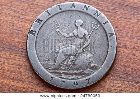 Penny britânica Cartwheel