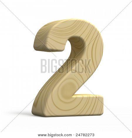 Números de madera 3D