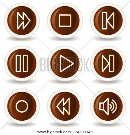 Walkman web icons, chocolate buttons