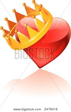 Glass Crowned Heart