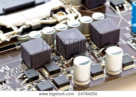 Filter Circuit And Smd Stabilizers Of The Processor On Motherboard