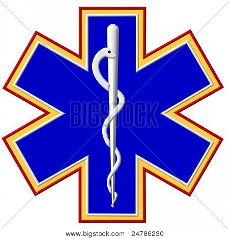Star of Life with Caduces