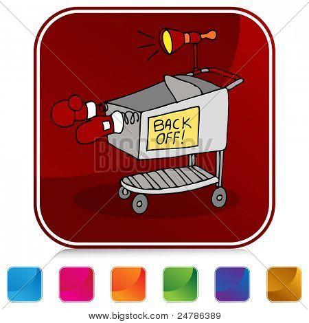 An image of a Shopping Cart Battle button set.