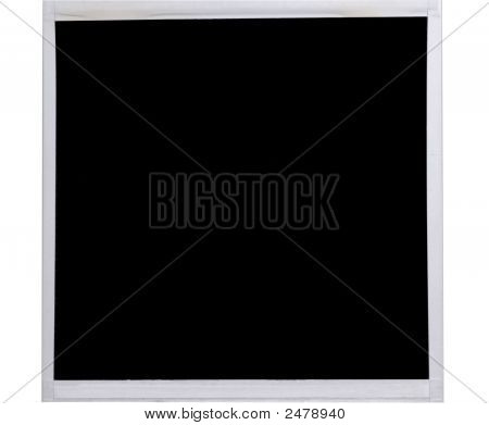 isoliert Polaroid-Bild auf weiß