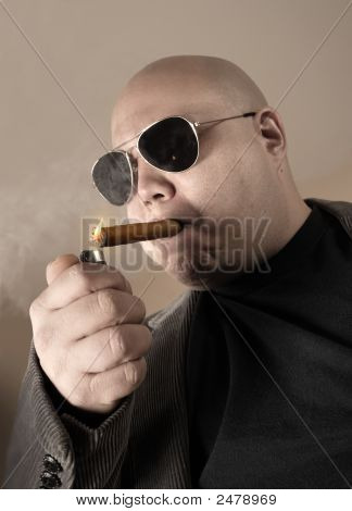 Smoking Mobster