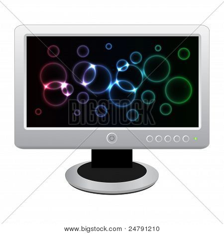 White Lcd Monitor