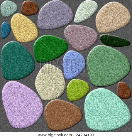 Color Stone Walls Abstract Background