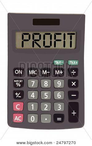 Calculadora en blanco fondo mostrando texto antiguo