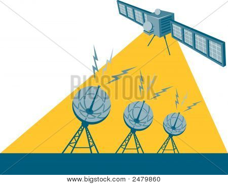 Satellite Sending A Signal