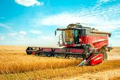 Grain, Harvesting, Harvest, Combine, Harvester, Corn, Tractor, Wheat, Farm, Field, Agricultural, Far poster