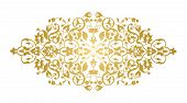 Decorative Element For Design. Floral Ornament In Oriental Style. Lace Decor For Birthday And Greeti poster
