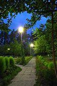 Evening Garden, Alley In The Evening Garden poster