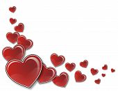 stock photo of valentines day  - valentines day background whit many red hearts - JPG
