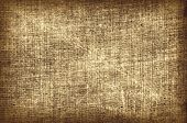 Grungy Weathered Distressed Sackcloth Copy Space Background With Vignetting poster