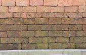 Brick Wall Background. Old Red Brick Masonry Wall Texture poster