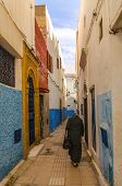 An Amazing City In Morocco, Rabat, Medina, Narrow Streets, Colorful Walls, Narrow Passage - Street,  poster