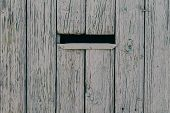 Mailbox In A Wooden Fence, Background, Texture poster
