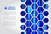 Futuristic High Computer Technology Business Background. Abstract Hi-tech Background. Communication  poster