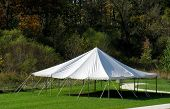 image of canopy roof  - an outside white canopy tent which can be used for many fun events - JPG