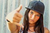 A Hip Hop Rap Girl Caucasian Portrait poster
