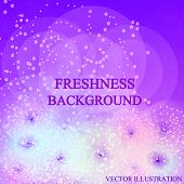 Bright Freshness Background. Lilac Abstract Backdrop. Ecology Theme Flyer Template. Bright Fresh Con poster
